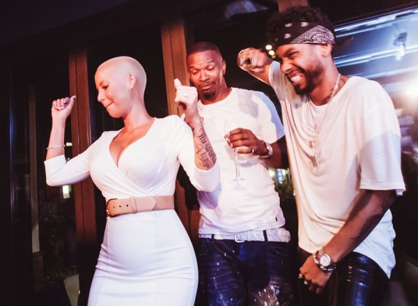 Amber Rose, Jamie Foxx, and Miguel @ Hyde Sunset Kitchen + Cocktails