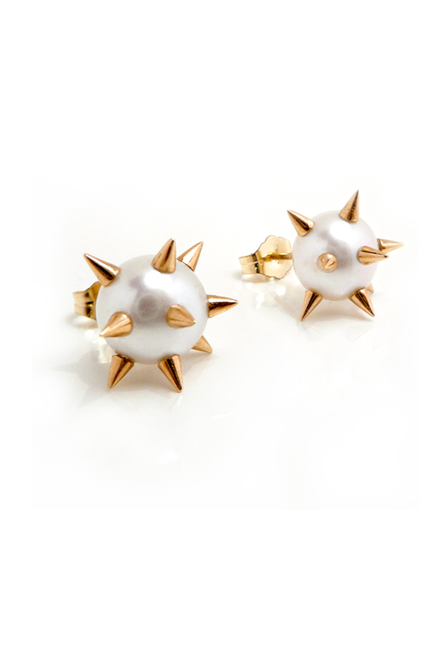 Spike_Pearl_Earrings