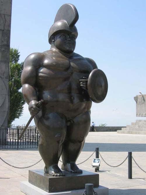 botero's roman warrior