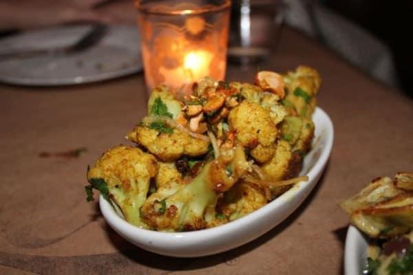 cauliflower, vadouvan, cashews