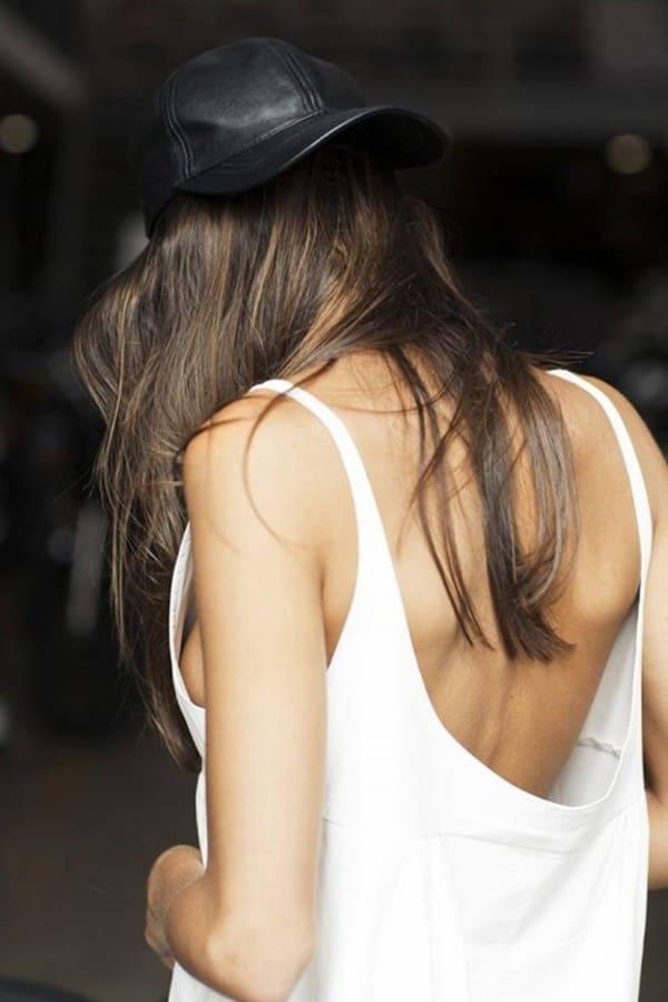 Фото девушек темненьких со спины