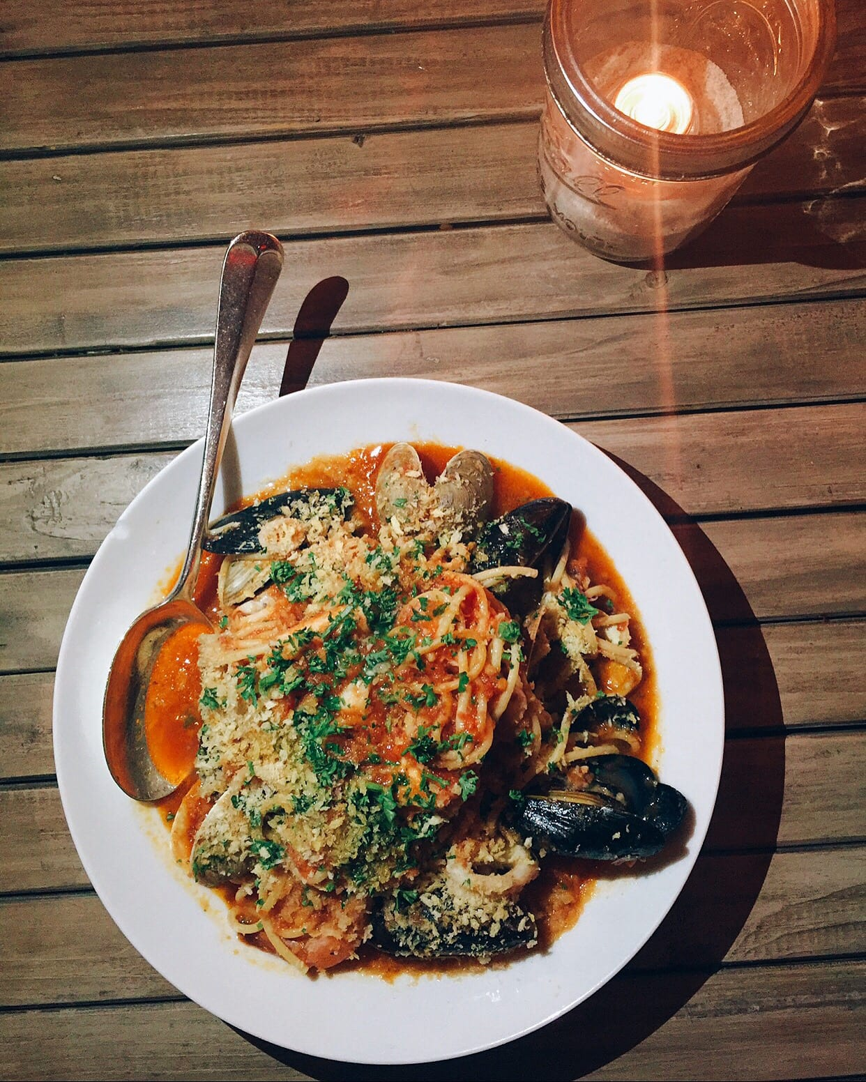 Pescatore with clams, mussels, shrimp, and calamari with arrabbiata from Hyde Beach Kitchen & Cocktails Hallandale