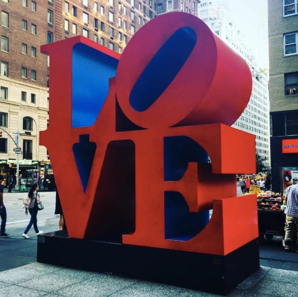 Robert Indiana's LOVE sculpture photo by @annaofseattle