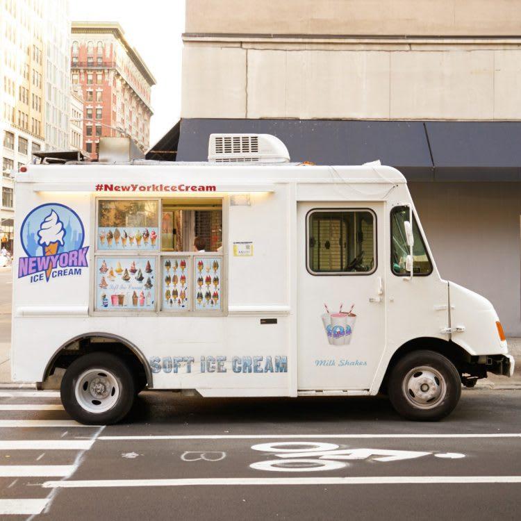 One of NYC's iconic ice cream trucks