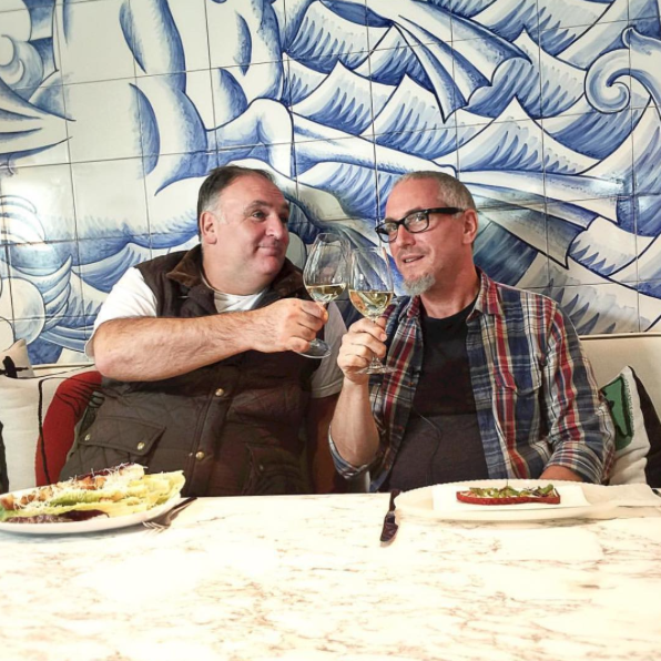 Jose Andres and Michael Schwartz at Bazaar Mar