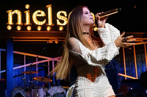 Maren Morris performs at Nielsen pre-Grammy party on Feb. 11, 2017. Photo courtesy of MAC Presents.