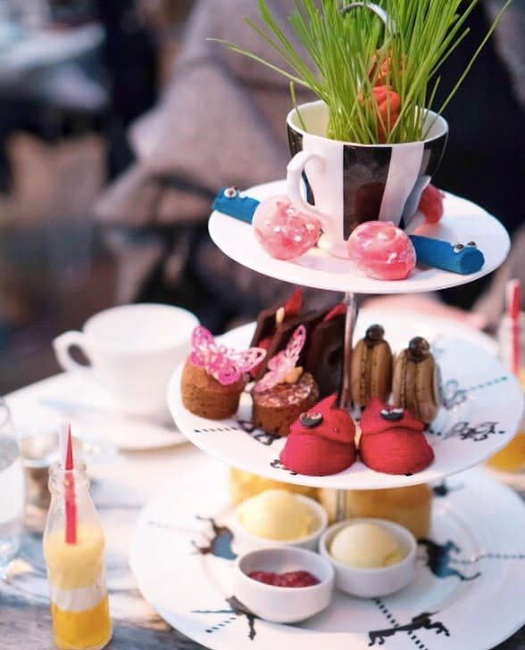 Did someone say tea time? Hats off to @sandersonsocial for being named one of the most Instagram-able High Teas in #London by @voguemagazine ? @theclumsytraveler #WorldOfsbe