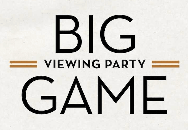 BIG GAME Viewing Party on the Sunset Strip
